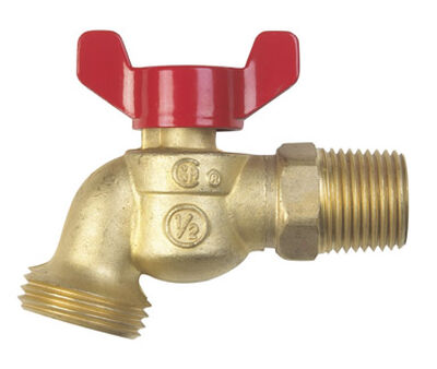 B & K Mueller 1/2 in. MIP Dia. x 3/4 in. Dia. Hose Brass 3 in. Hose Bibb