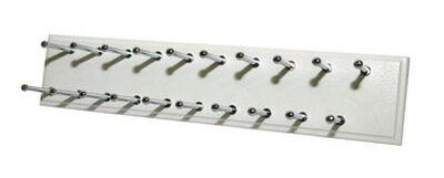 Easy Track 16 in. L x 8-1/2 in. H x 6-1/2 in. W Sliding Tie Rack White