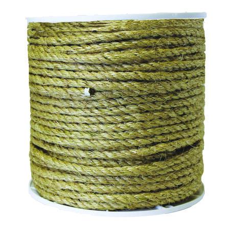 Wellington 3/8 in. Dia. x 365 ft. L Twisted Sisal Rope Tan