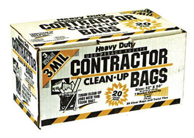 Iron Hold Ruffies Pro 42 gal. Contractor Bags Wing Ties 20 pk