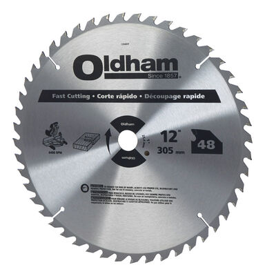 Oldham 12 in. Dia. 48 teeth Carbide Tip Steel Circular Saw Blade For Fast Cutting