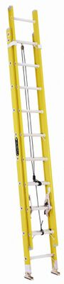 20 ft Louisville FE1720 Fiberglass Extension Ladder, Type I, 250 lb Load Capacity