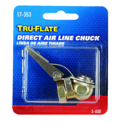 Tru-Flate Steel Safety Grip Air Chuck 1/4 in. NPT Female