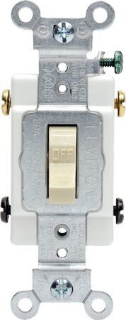 Leviton Commercial 20 amps Toggle Switch Double Pole