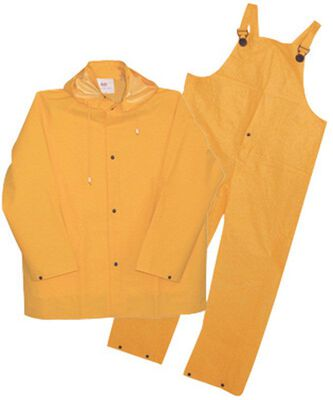 Boss Yellow PVC-Coated Polyester Three Piece Rain Suit X-Large