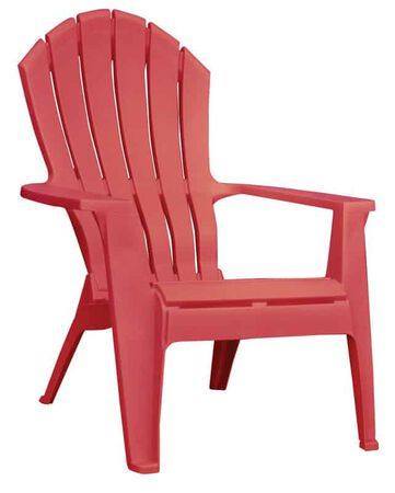 Adams RealComfort 1 Red Polypropylene Adirondack Chair Red