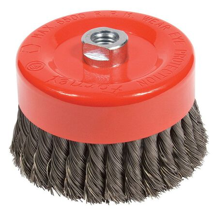Forney 6 in. Dia. 0.625 Cup Brush