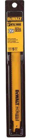 "8"" 10/14 TPI Straight Back Bi-Metal Reciprocating Blade (5 pack)"
