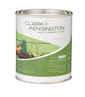 Clark+Kensington Exterior Exterior Acrylic Latex Enamel Paint Ultra White 1 qt.