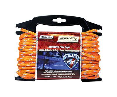 Secureline 1/4 in. Dia. x 50 ft. L Diamond Braided Poly Rope Orange