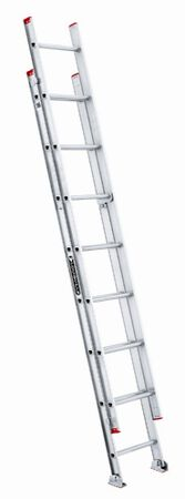 16 ft Louisville L-2321-16 Aluminum Extension Ladder, Type III, 200 lb Load Capacity