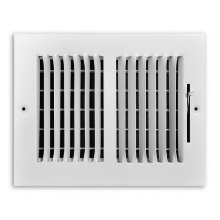 Tru Aire 6 in. H x 8 in. W White Steel 2-Way Supply Wall/Ceiling Register