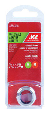 ACE Male Aerator Adapter 15/16in.- 27M x 55/64in. - 27M Chrome