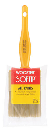 Wooster Softip 2 1/2 in. W Flat Nylon Polyester Paint Brush