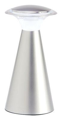 Fulcrum 7-7/8 in. H Gray Lanterna Touch Wireless Light