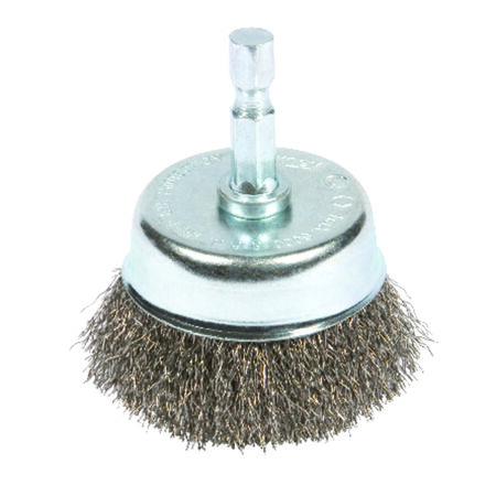 Forney 3 in. Dia. 0.25 Crimped Wire Cup Brush