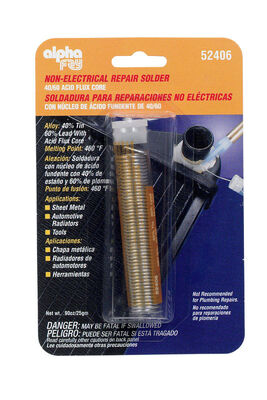 Alpha Fry 0.9 oz. Repair Solder Tin / Lead 40% Tin 60% Lead