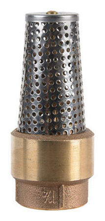 Campbell 1-1/4 in. Dia. x 1-1/4 in. Dia. Brass Foot Valve