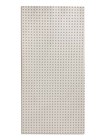 White Peg Board 2x4-3/16