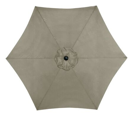 Living Accents 9 ft. Tan Market Patio Umbrella