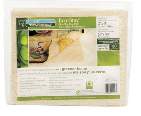 Eco Stay 2 ft. L x 8 ft. W Polyester Indoor Rug Pad