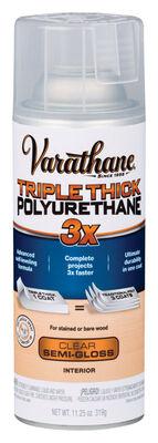 Varathane Triple Thick Transparent Polyurethane Clear Semi-Gloss 11.25 oz.