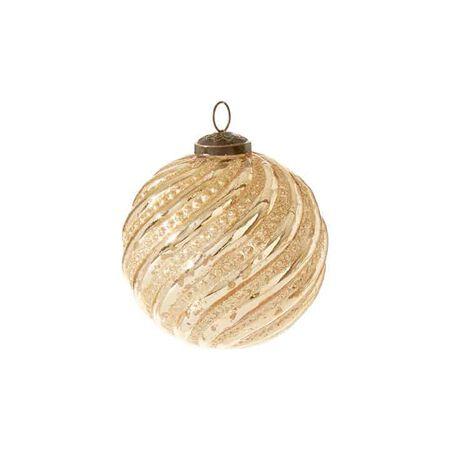 "4"" Glittered Ball Ornament"