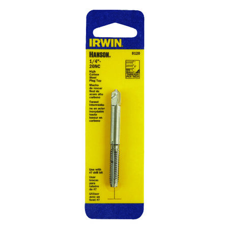 Irwin Hanson High Carbon Steel 1/4 in.-20NC SAE Fraction Tap 1 pc.