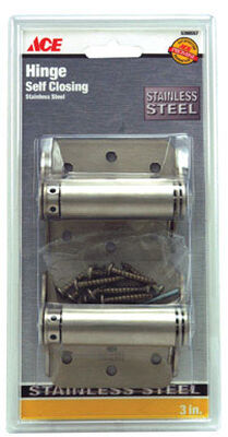 Ace 3 in. H x 3 in. L 3 in. Stainless Steel Spring Return 2 Stainless Steel Adjustable Spring Hi