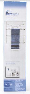 Zenith Satin Nickel Over-the-Door Towel Rack Steel
