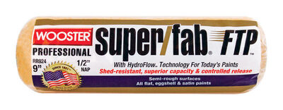 Wooster Super/Fab FTP Synthetic Blend Paint Roller Cover 1/2 in. L x 9 in. W