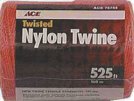 Ace 18 in. Dia. x 525 ft. L Twisted Nylon Twine Orange