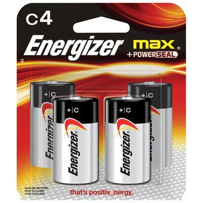 Energizer Max C Alkaline Batteries 1.5 volts 4 pk