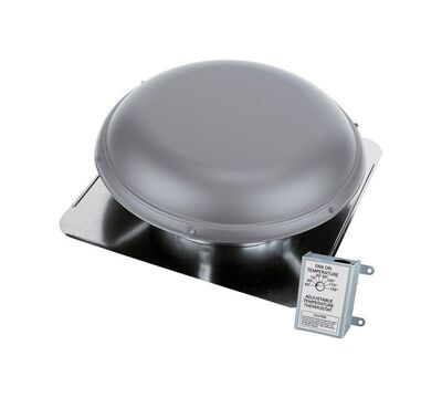 Air Vent Gray Steel Power Attic Vent Type Power Roof Ventilator