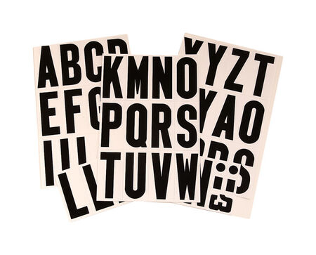 Hy-Ko Self-Adhesive Black Reflective Vinyl Letter Set A-Z 3 in.