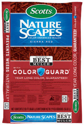 Scotts Nature Scapes Color Enhanced Mulch Sierra red 2 cu. ft. 2 sq. ft.