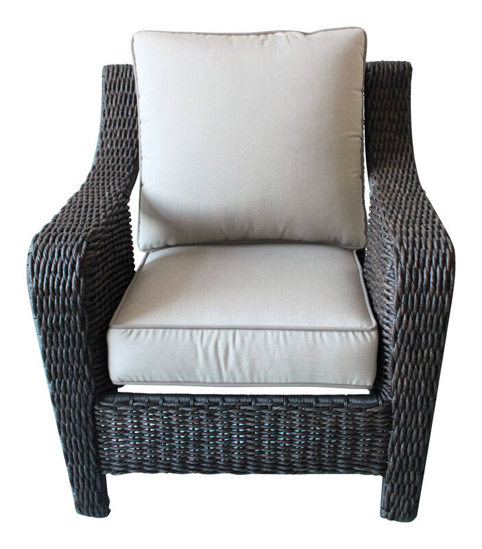 Living Accents Brown Plastic Wicker Belvedere Stackable Chair