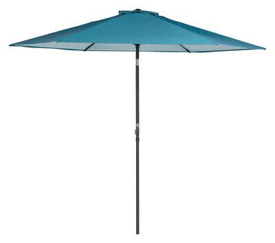 Living Accents Eastport 9 ft. Tiltable Blue Market Umbrella