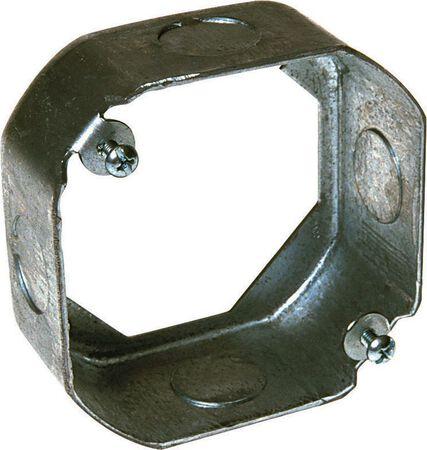 Raco 4 in. H Octagon Junction Box 1/2 in. Black Steel