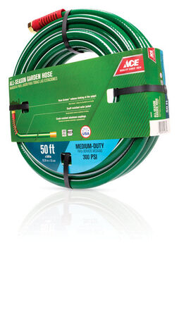 Ace All-Season 5/8 in. Dia. x 50 ft. L Garden Hose Kink Resistant