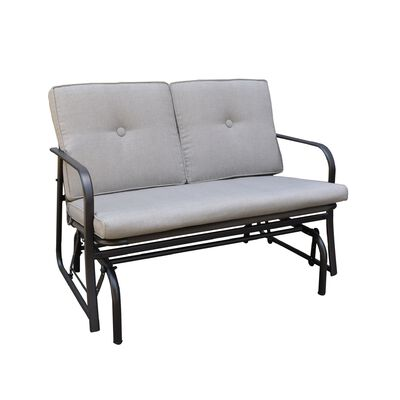 Living Accents Jefferson Steel 2 person Glider 32.31 in. 45.51 in. 27.58 in. 500 lb.