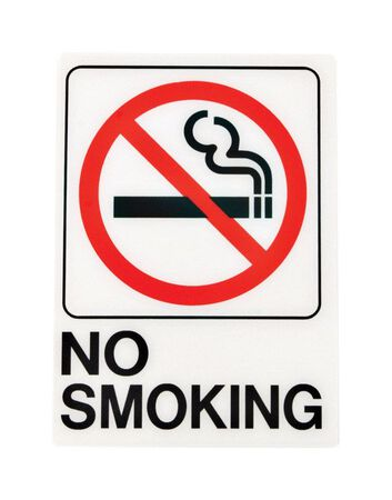 Hy-Ko English 7 in. H x 5 in. W Plastic Sign No Smoking