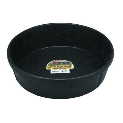 Miller 3 gal. Feed Pan For Livestock 4-1/2 in. H x 8-1/2 in. D