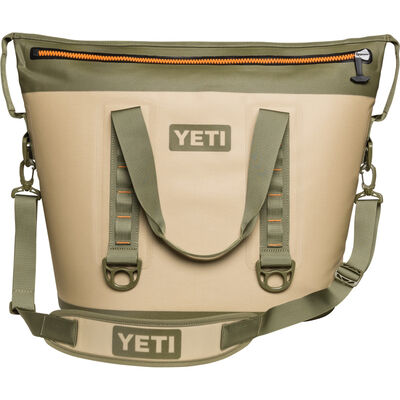 YETI Hopper Two 40 Soft Sided Cooler 36 can Field Tan/Blaze Orange
