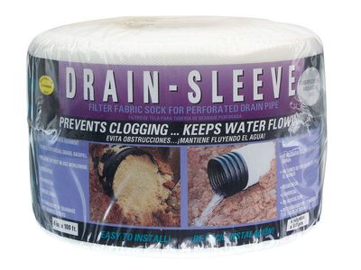 Drain Sleeve 100 ft. L x 4 in. Dia. x 0.625 in. Dia. Polyester Filter Fabric Sock