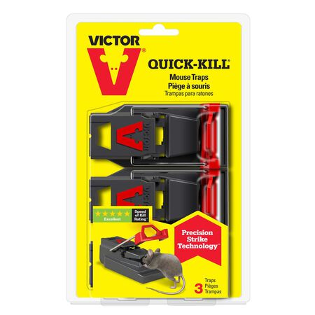 Victor Quick-Kill For Mice Animal Repellent Trap 3 pk