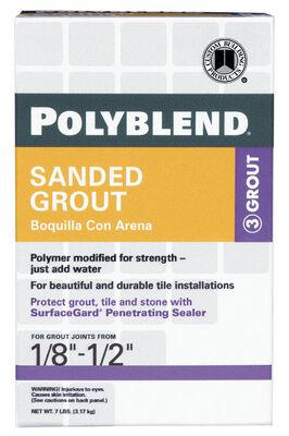 Custom Polyblend Snow White Sanded Grout 7 lb.