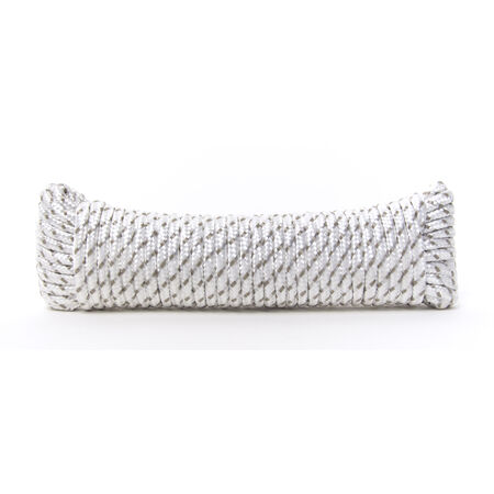 Ace 1/4 in. Dia. x 50 in. L Gray/White Diamond Braided Poly Rope