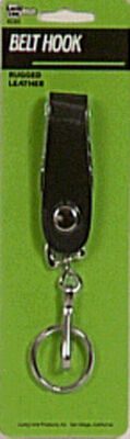 Hy-Ko Products Leather 1-1/8 in. Dia. Snap Key Strap Brown
