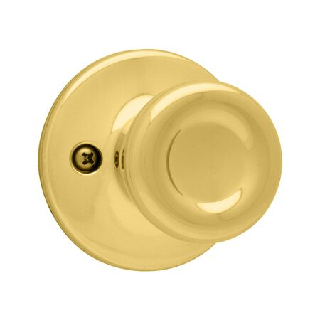 Kwikset Tylo Dummy Knob Polished Brass Steel 3 Grade Left Handed Right Handed